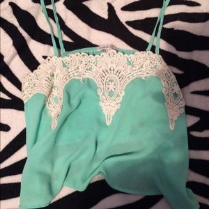 Cropped Charlotte Russe tank top